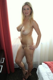 Lovely blonde mother in..