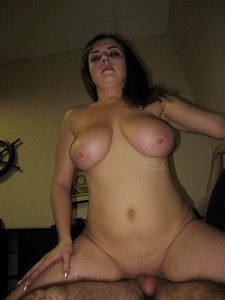 Chubby brunette with..
