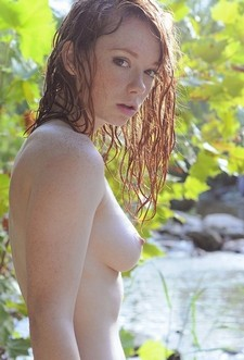 Beautiful redhead in the..