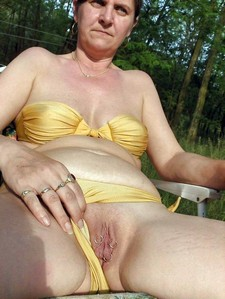 Pierced old pussy granny..