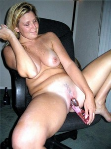 Mature lady enjoying a..