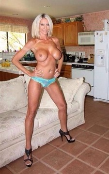 Hot blonde mommy in a..